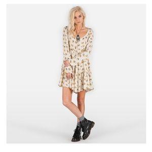 Volcom Nevermore  Floral Tunic Dress M